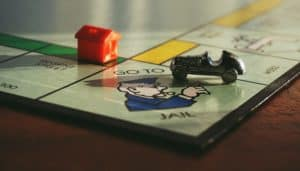 Go to Jail on Monopoly Board