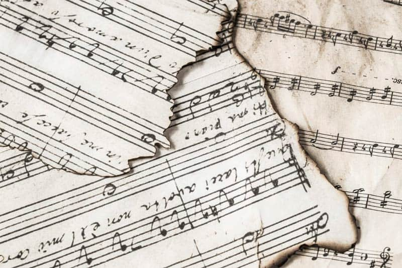 Torn Pieces of Music Composition